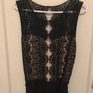 Anthropologie lace jumpsuit